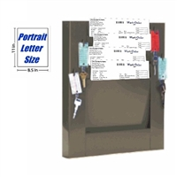 Repair Order Rack, Model 174-4-SL-K2, 4 Pocket Key-Hook Rack