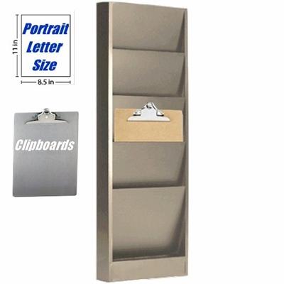 Clipboard Rack 4 Pockets 9 1 2 Quot W X 8 Quot D 800 858 7462