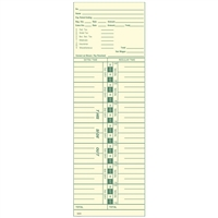 FORM 3200 Time Cards
