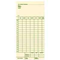 FORM 85330 Time Cards
