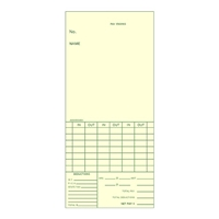 FORM AMA5594BX Time Cards