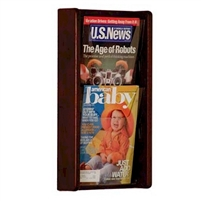 2 Pocket Oak & Acrylic Literature Display, Model ET-AC19-2