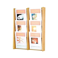 6 Pocket Oak & Acrylic Literature Display, Model ET-AC26-6