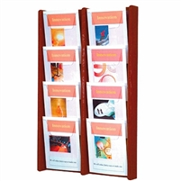 8 Pocket Oak & Acrylic Literature Display, Model ET-AC34-8