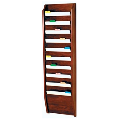 10 Pocket Oak File Folder Rack