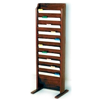 Free-Standing 10-Pocket Legal-Size Chart Rack