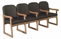 Quadruple Sled-Base Chair w/ Arms (Designer)