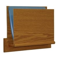 1 Pocket Open End Oak Chart Holder