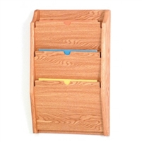3 Pocket Oak PRIVACY Chart Holder