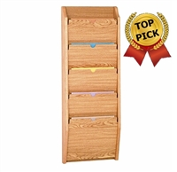 5 Pocket Oak PRIVACY Chart Holder